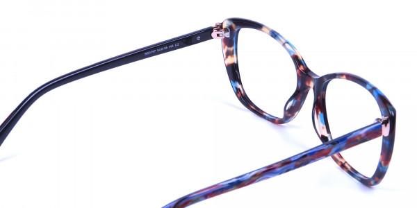 Blue Tortoiseshell Cateye Glasses for Women - 4