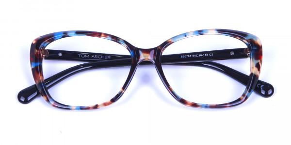 Blue Tortoiseshell Cateye Glasses for Women - 5