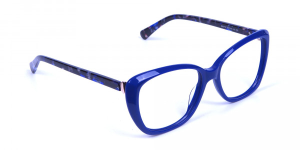 Royal Blue Cat Eye Glasses for Women - 1