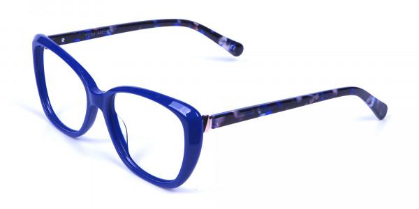 Royal Blue Cat Eye Glasses for Women - 2