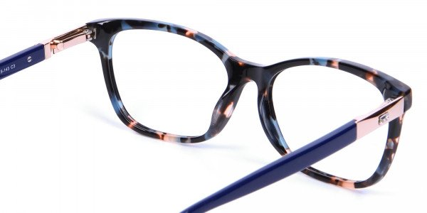 Blue Tortoiseshell Cat Eye Glasses for Women - 4
