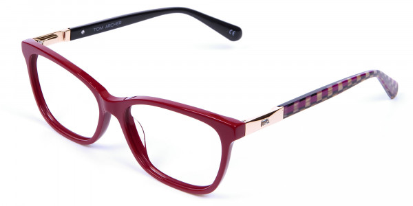 Retro Red Cat Eye Glasses for Women - 2