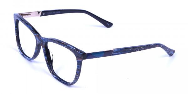 Blue Oversized Glasses - 2