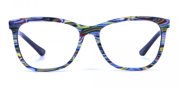 Green and Blue Oversized Glasses for Men and Women