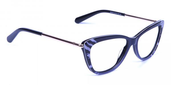 Gradient Black Zebra Striped Glasses -1