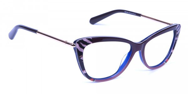 Gold Brown Zebra Glasses -1