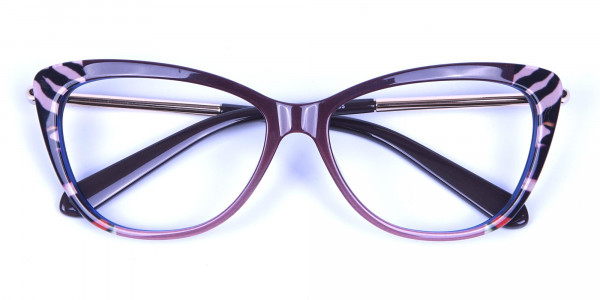 Gold Brown Zebra Glasses -5