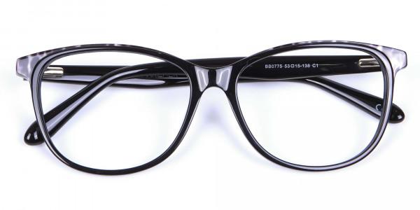 Black Cat Eye Glasses for Women - 5