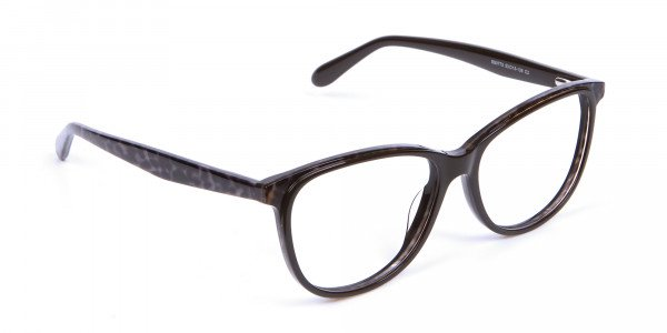 Leopard Brown Cat Eye Glasses for Women - 1