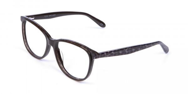 Leopard Brown Cat Eye Glasses for Women - 2