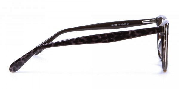 Leopard Brown Cat Eye Glasses for Women - 3