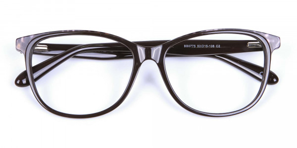 Leopard Brown Cat Eye Glasses for Women - 5