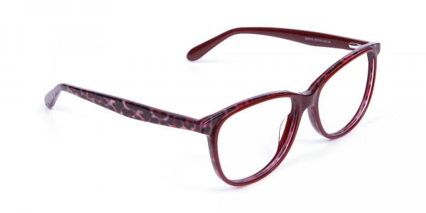 Burgundy Red Cat Eye Glasses for Women - 1