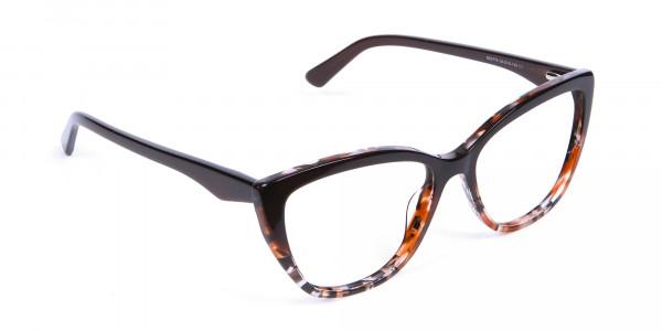 Brown Tortoiseshell Cat Eye Glasses for Women - 1