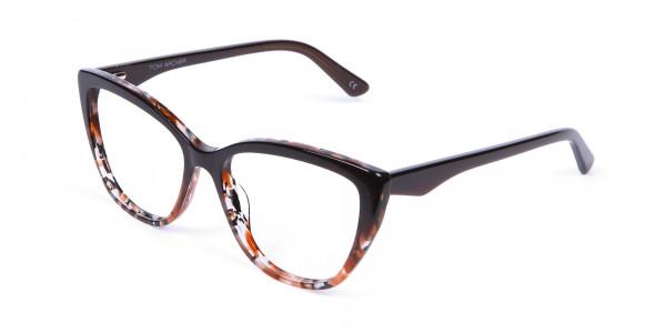 Brown Tortoiseshell Cat Eye Glasses for Women - 2