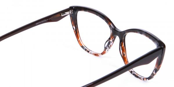 Brown Tortoiseshell Cat Eye Glasses for Women - 4