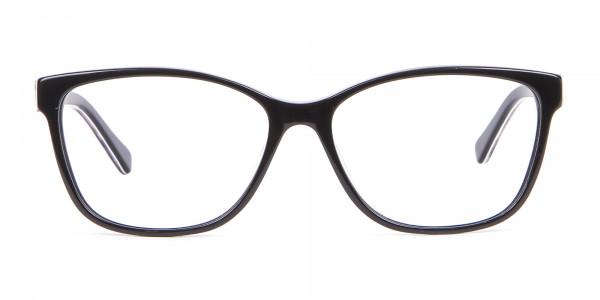 Retro-Inspired Nerd Geek Glasses in Marble - 1