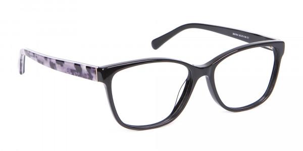 Retro-Inspired Nerd Geek Glasses in Marble - 2