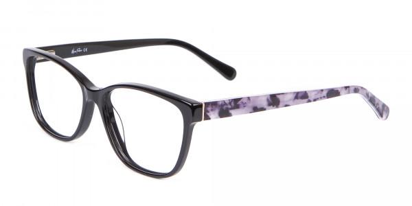 Retro-Inspired Nerd Geek Glasses in Marble - 3