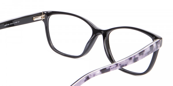 Retro-Inspired Nerd Geek Glasses in Marble - 5