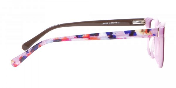 Rectangle Frame with Patterns Burgundy & Pink-4
