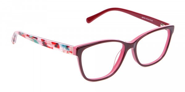 Two-tone Red Glasses for All Occasions-2