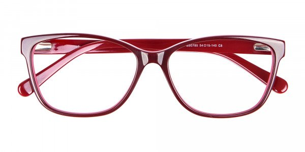 Two-tone Red Glasses for All Occasions-7