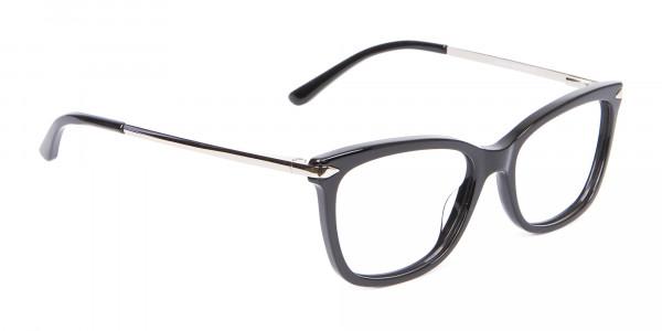 Ladies Mordern Rectangular Glasses in Black- 2