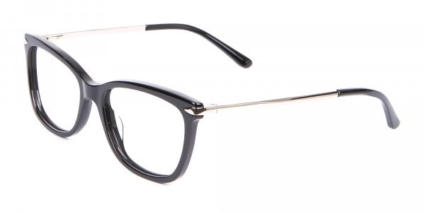 Ladies Mordern Rectangular Glasses in Black- 3