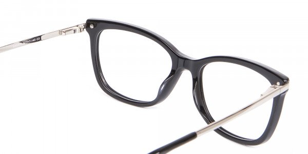 Ladies Mordern Rectangular Glasses in Black- 5