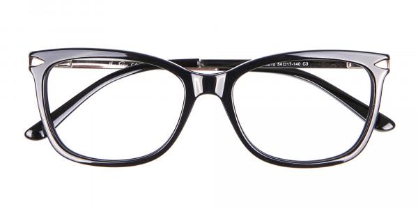Ladies Mordern Rectangular Glasses in Black- 6