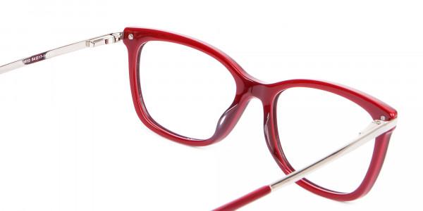 Woman Rectangular Glasses Neutral Design UK- 5