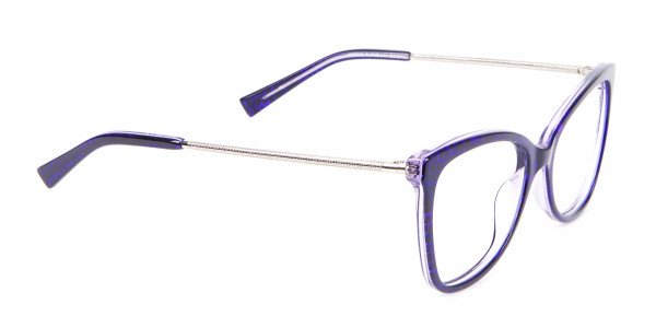 Woman's Purple Butterfly Frame with Patterns-2