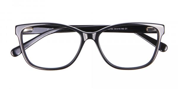 Retro-Inspired Nerd Geek Glasses in Marble - 6