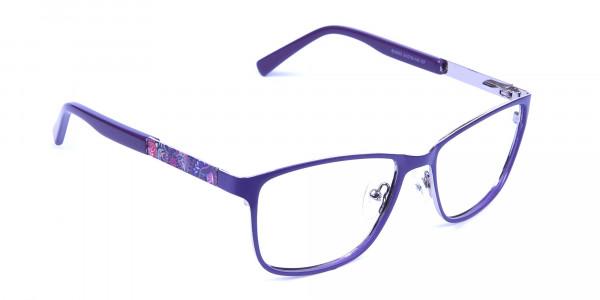 Purple Large Frame Glasses -1