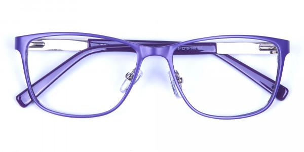 Purple Large Frame Glasses -5