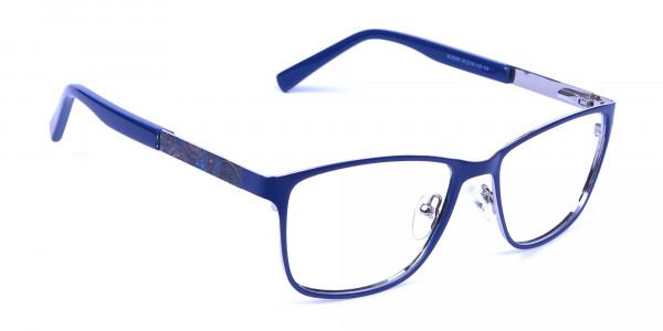 Blue Wide Frame Eyeglasses -2