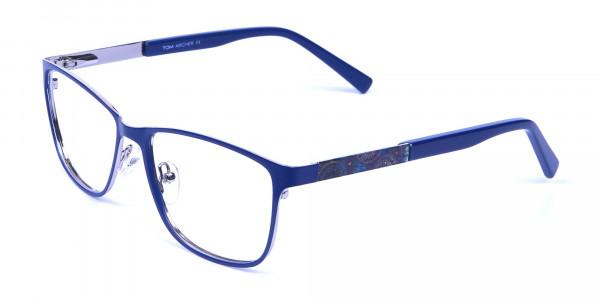 Blue Wide Frame Eyeglasses -3