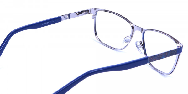 Blue Wide Frame Eyeglasses -4