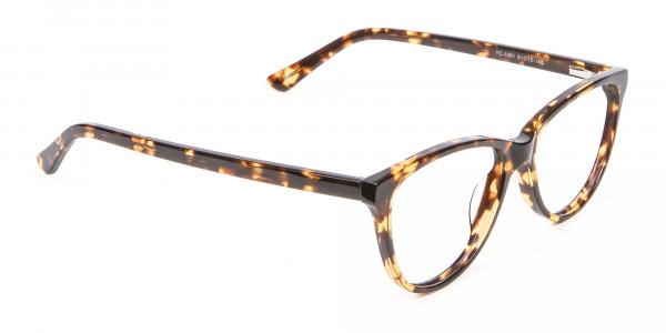 Tortoiseshell & Havana Cat Eye Glasses - 1