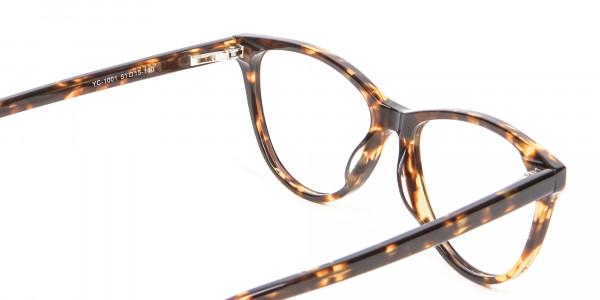 Tortoiseshell & Havana Cat Eye Glasses - 4