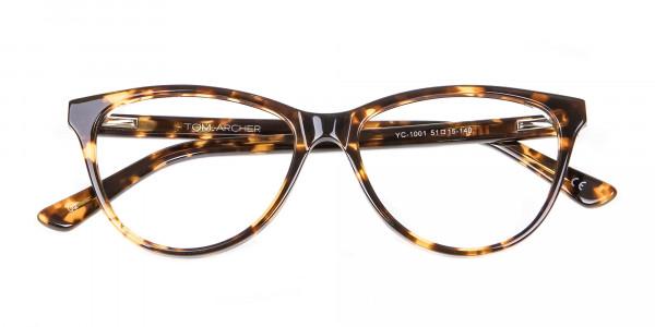 Tortoiseshell & Havana Cat Eye Glasses - 5