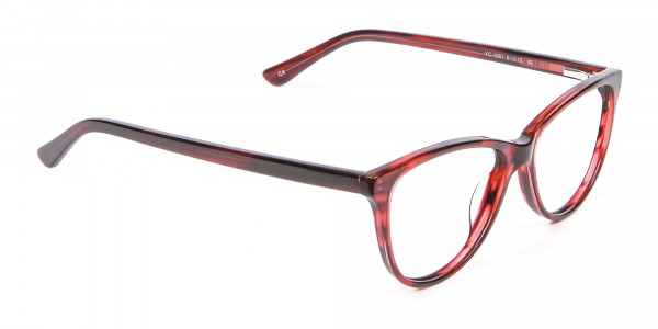 Designer Red Cat Eye Glasses for Women - 1