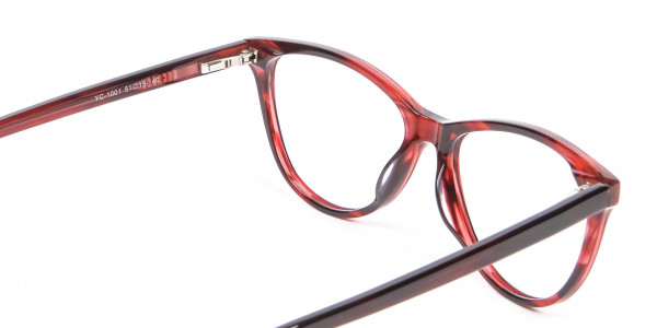 Designer Red Cat Eye Glasses for Women - 4