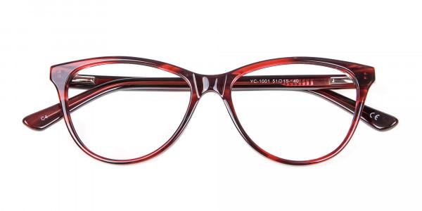 Designer Red Cat Eye Glasses for Women - 5