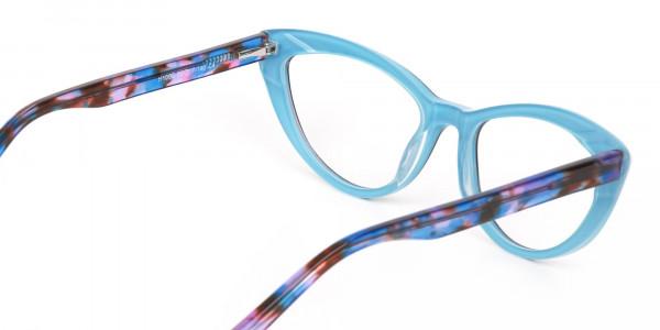 Black & Blue, Purple tortoise Cat eyeglasses Women-5