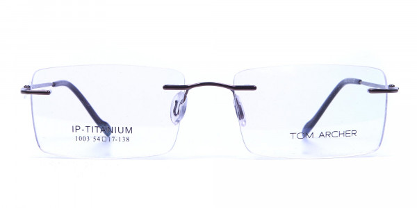 Rimless Glasses in Brown for Men & Women -1