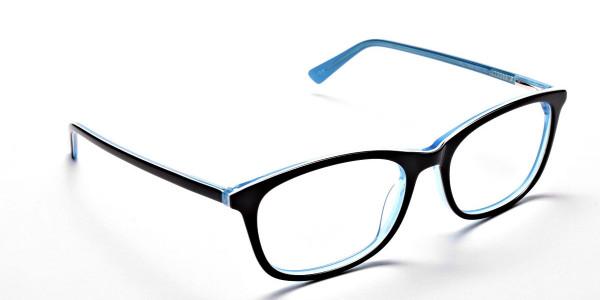 Black & Sky Blue Glasses -1