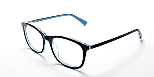 Black & Sky Blue Glasses -2