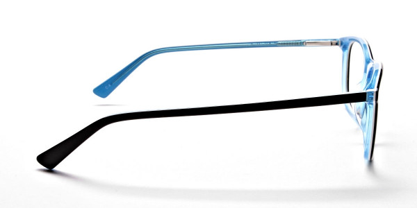 Black & Sky Blue Glasses -3